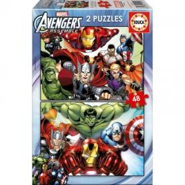 Educa - Puzzle Infantil Marvel Avengers Educa (2 x 48 pcs)