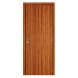 Porta de entrada de madeira BLINDADA LISA MOGNO 80X200CM DIREITA 1P