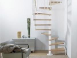 Escada em caracol CUBE BRANCO/FAIA 138CM