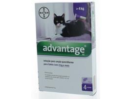 Marca do fabricante - Desparasitante para Gatos ADVANTIX Pipetas (4-8 kg - 4x0,8 ml)