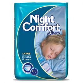 LIBERO NIGHT COMFORT FRALDA 35/60 KG X12