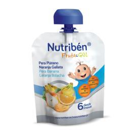 Nutribén Fruta Go Pure Pêra/Banana/Laranja/Bolacha 90g