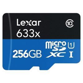Cartão Memória MicroSDXC Lexar LSDMI256-633X V30 633x - 256GB