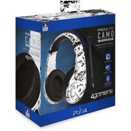 Auscultadores Gaming PRO4-70 4Gamers para Ps4 - Camo Arctic Edition