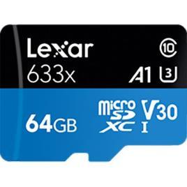 Cartão Memória MicroSDXC Lexar LSDMI064-633X V30 633x - 64GB