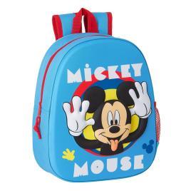 DISNEY Mochila Júnior 3D Mickey, Azul