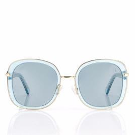 Óculos Escuros Glitter Valeria Mazza Design Turquesa (55 mm)