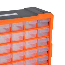 Marca do fabricante - DURHAND Gabinete Organizador Ferramenta 60 gavetas tipo Prateleira DIY Gabinete Gaveta Caixa de Ferramentas 38x16x47.5 cm PP