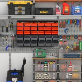 Marca do fabricante - DURHAND Organizador de parafusos e ferragens para parede Caixas 2 Tamanhos 37,5x18x95,5