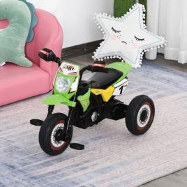 Marca do fabricante - HOMCOM Moto infantil para crianças acima de 18 meses com 3 rodas Música e farol 71x40x51 cm Verde