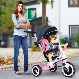 Marca do fabricante - HOMCOM triciclo bebê 4 em 1 para crianças +18 meses Controle Parental