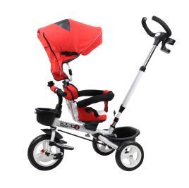 Marca do fabricante - HOMCOM Triciclo de Bebé acima de 18 meses Dobrável 4 em 1Evolutivo Assento Giratório Capota Barra Desmontável Controlo Parental