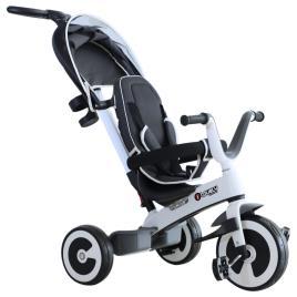 Marca do fabricante - HomCom® Triciclo para bebê 4 em 1 Trolley Trike Bicicletas para crianças + 18 meses evolutivo Capuz de barra destacável cinza