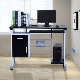 Marca do fabricante - Secretária para Computador PC Gabinete Secretária 100 x 52 x 75 cm Escritório Mobiliário Madeira