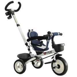 Marca do fabricante - HOMCOM Triciclo de Bebé Dobrável 4 em 1 para Crianças +18 Meses Assento Giratório Capota Barra Desmontável