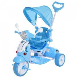 Marca do fabricante - HOMCOM Triciclo para crianças acima de 3 anos, dobrável com luz e música 102x48x96 cm Azul