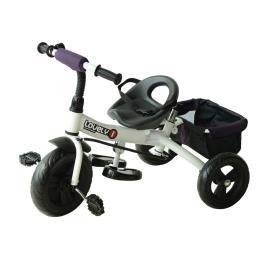 Marca do fabricante - Triciclo para Crianças com Capota– Cor: Roxo e Branco– Ferro, Plástico e Tela– 92 x 51 x 110 cm