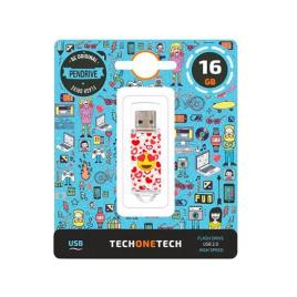 Pen Usb Tech One Tech 16gb Usb 2.0 Heart-eyes