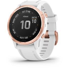 GARMIN - Relógio Desporto Garmin Fénix 6S Pro 42mm - Rosa Dourado | Branco