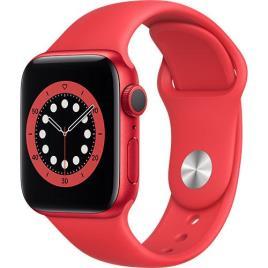 Apple Watch Series 6 40mm - Alumínio (PRODUCT) RED | Bracelete Desportiva - Vermelho