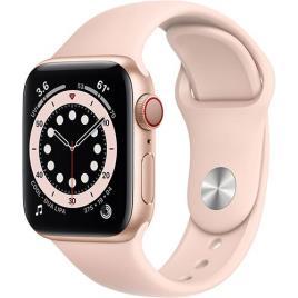 Apple Watch Series 6 40mm - Cellular - Alumínio Dourado | Bracelete Desportiva - Rosa Areia