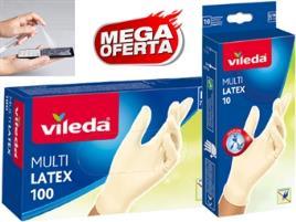 VILEDA - 100 Luvas M/L + Caneta - 10 ou 100 Luvas Descartáveis VILEDA