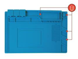 VELLEMAN - Tapete em Silicone p/ Soldar (450 x 300mm) - VELLEMAN