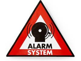 Saca 5x Sinaléticas PVC p/ Aviso Sistema Alarme (123x148mm) - NEDIS