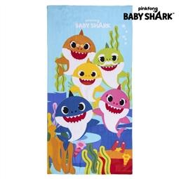 BABY SHARK - Toalha de Praia Baby Shark Azul (70 x 140 cm)