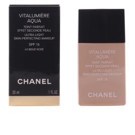 CHANEL - Base de Maquilhagem Fluida Vitalumière Aqua Chanel - 42 - beige rosé 30 ml