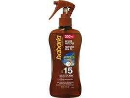 BABARIA - Óleo Protetor Monoi Tahiti Babaria SPF 15 (300 ml)