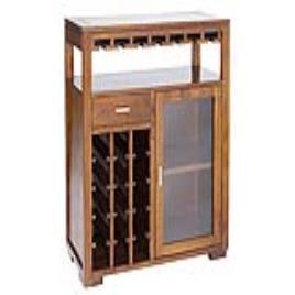 BIGBUY COOKING - Móvel (110 x 90 x 40 cm) Suporte para garrafas Madeira de cedro - Serious Line Coleção