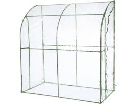 NATURE - Estufa NATURE Estilo Túnel (Transparente e Verde - Metal - 200 x 100 x 215 cm)