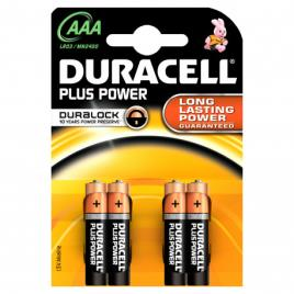 DURACELL - DURACELL - Pilha Alc Plus PowerAAA BL4 LR03-MN2400