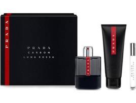 Prada - Conjunto de Perfume Homem Luna Rossa Carbon Prada EDT (3 pcs) (3 pcs)