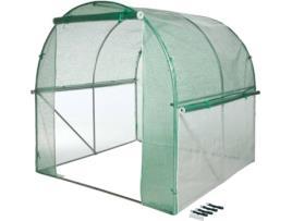 NATURE - Estufa NATURE Estilo Túnel (Transparente e Verde - Metal - 200 x 200 x 200 cm)