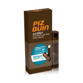 PIZ BUIN - Piz Buin Allergy Creme Facial Pele Sensível Ao Sol FPS50+ 50ml + OFERTA Stick Labial SPF30 4.9g