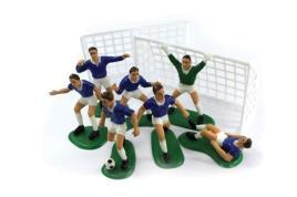 Porto - Kit  decoração de bolo Jogadores de Futebol azuis