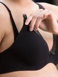 CACHE COEUR - Soutien com armação, especial gravidez e amamentação, Milk da CACHE COEUR preto escuro liso com motivo