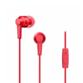 Auriculares Com fio PIONEER SE-C3T (In Ear - Microfone - Vermelho)