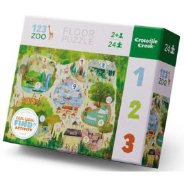 Puzzle Learning 123 Zoo - 24 Peças - Crocodile Creek
