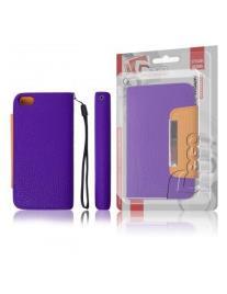 Capa Livro Horizontal LMobile Iphone 5 / SE / 5S / 5SE - Roxo