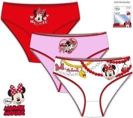Conjunto 3 cuecas Disney Minnie -  2- 3 Anos