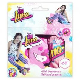 Pack 3 cuecas Luna -  4- 5 Anos