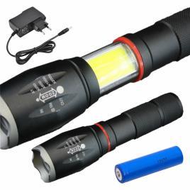 Lanterna C/ 1 Led Xpe 10w 5 Níveis Luz Zoom 800lm Well
