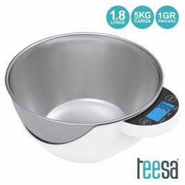 Balança Cozinha Digital 5kg Com Recipiente 1.8l Teesa