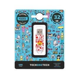 Pendrive 32Gb Tech One Tech Emojitech Heart-Eyes