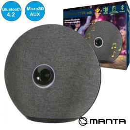 Coluna Bluetooth Portátil USB/SD/AUX/BAT Premium Manta