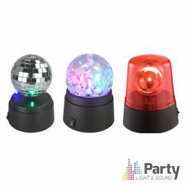 Conjunto de 3 Efeitos Luz PARTY