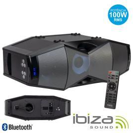 Coluna Amplificada 100w Usb/Sd/Bt/Fm/Comando Led Ibiza